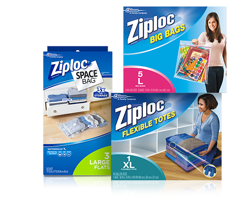Ziploc Home Organisations