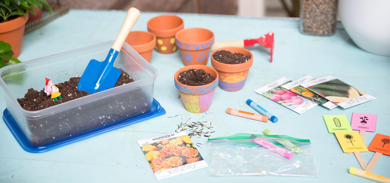 Ziploc gardening kits for little green thumbs ziploc for Indoor gardening kit green toys