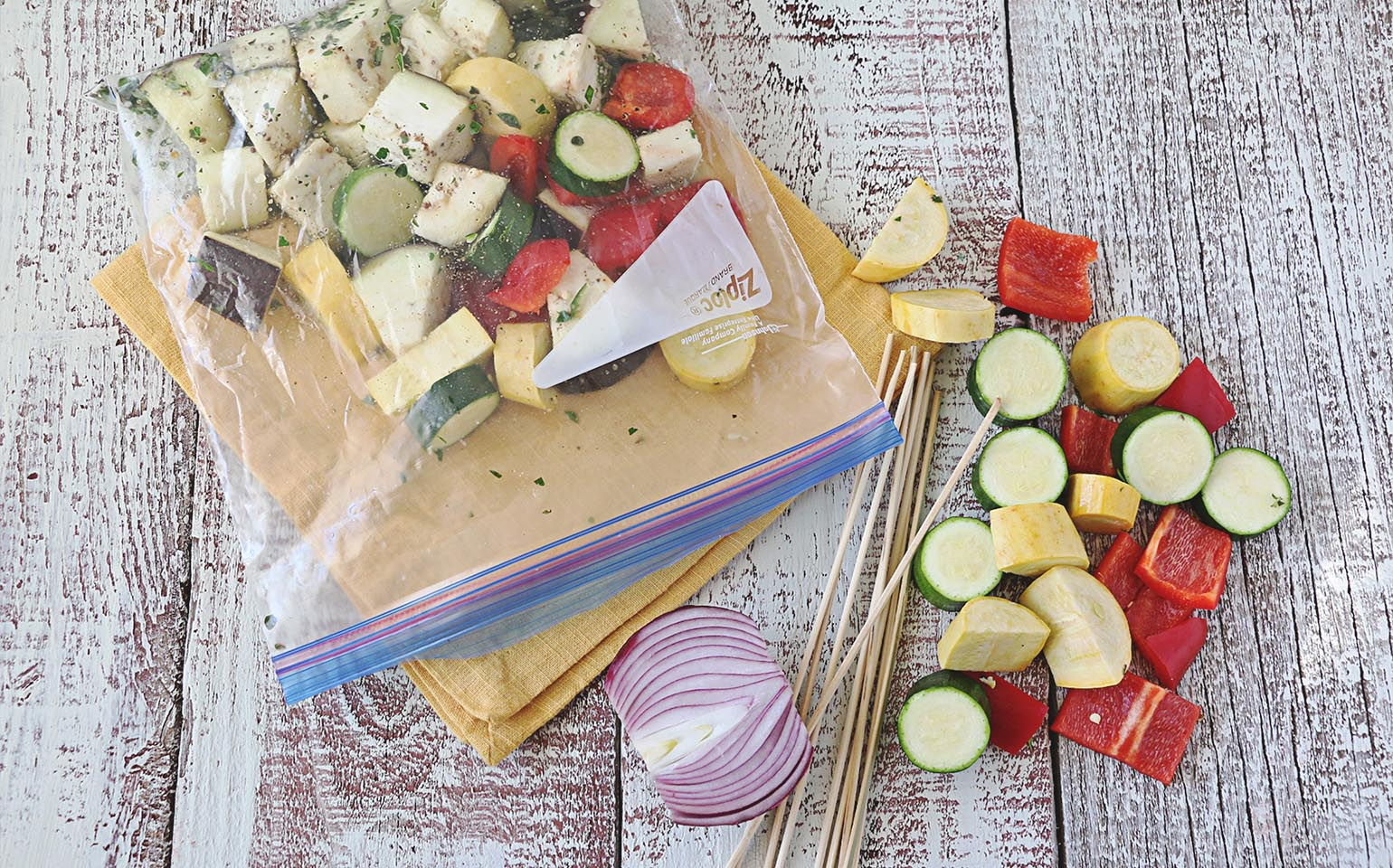 Ziploc 174 Grilled Lemon Marinated Summer Vegetables With