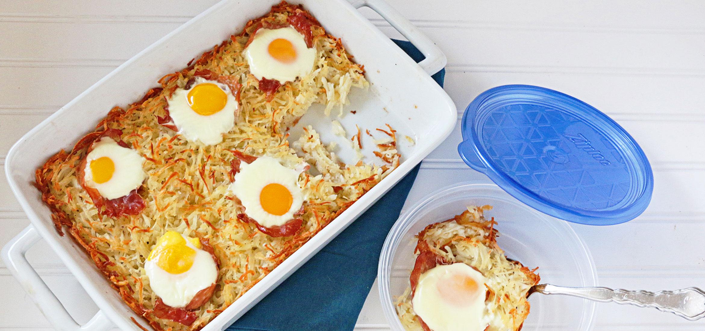 Ziploc 174 Hash Brown Prosciutto And Egg Casserole