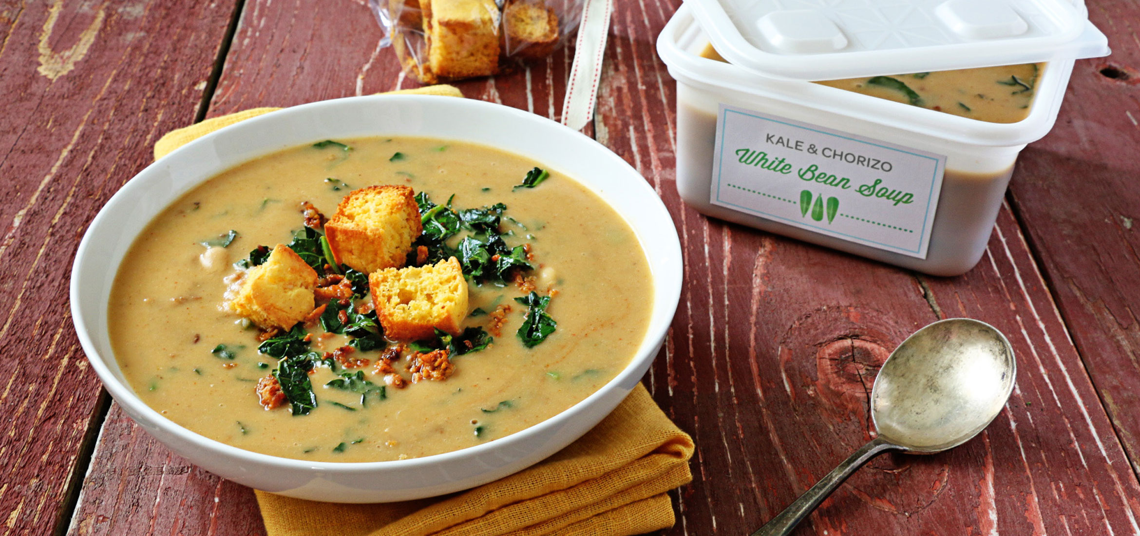 Ziploc® | Kale And Chorizo White Bean Soup | Ziploc® brand | SC ...