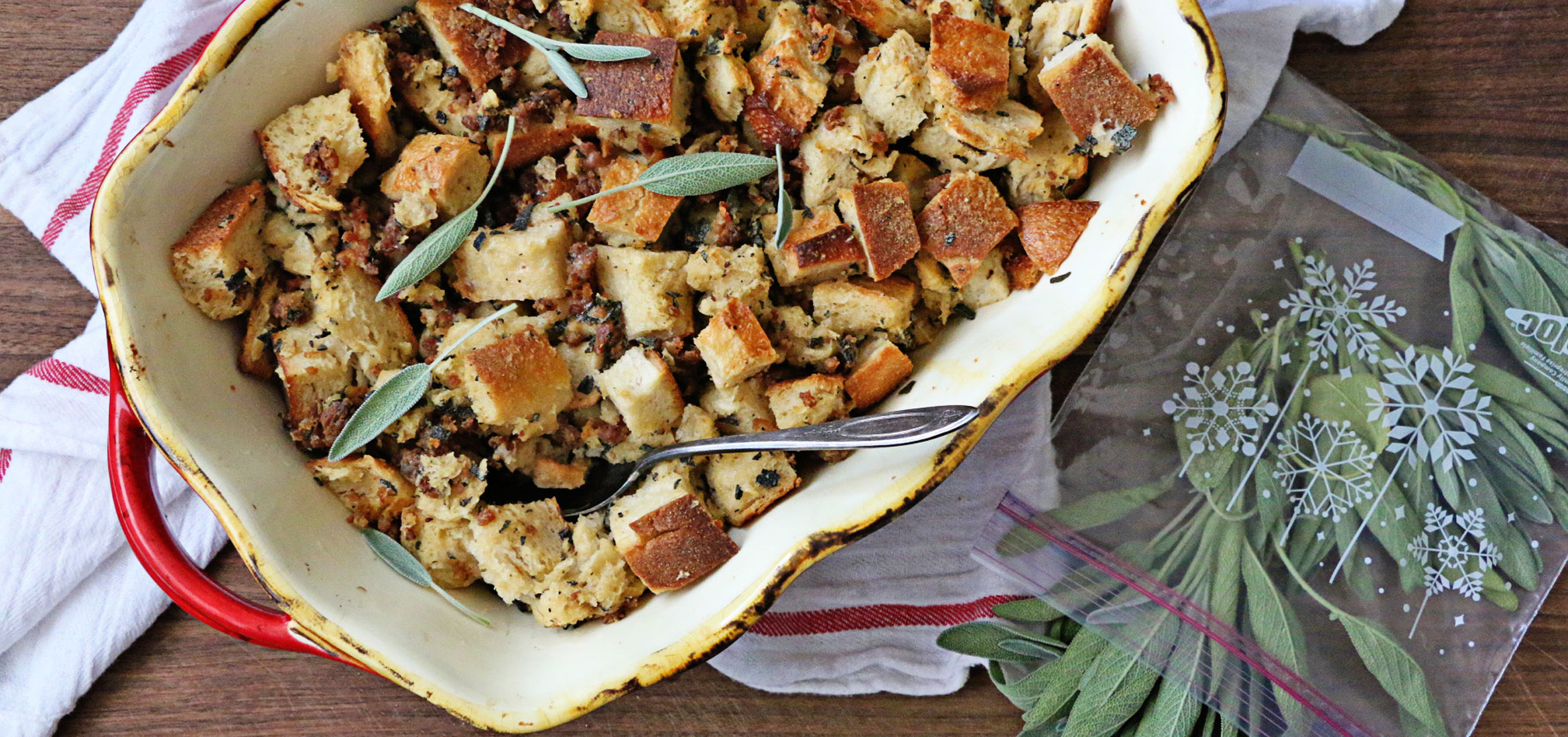 Home . Recipes . Snacks & Appetizers . Sourdough And Sausage Stuffing