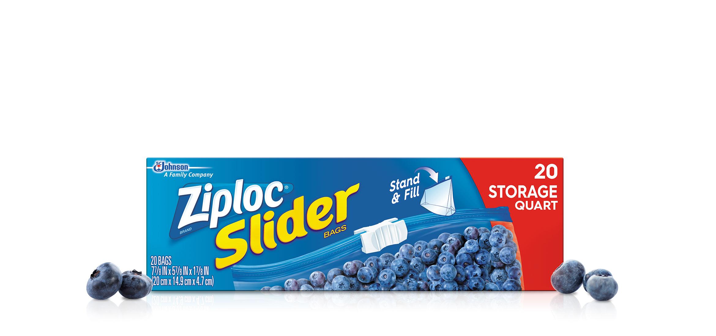 Ziploc 174 Slider Storage Bags Quart Ziploc 174 Brand Sc
