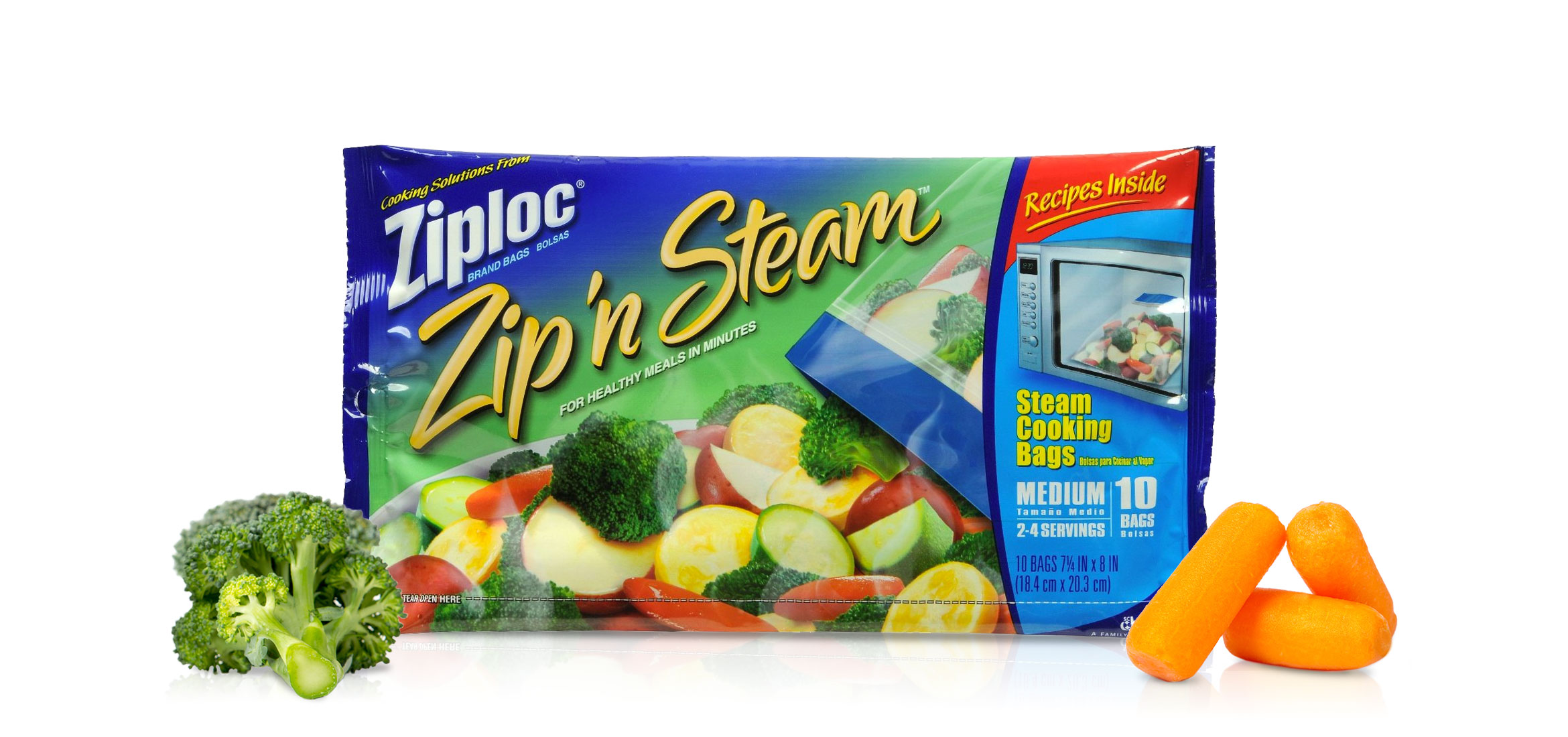 Ziploc Zip N Steam Cooking Bags Brand Sc Johnson