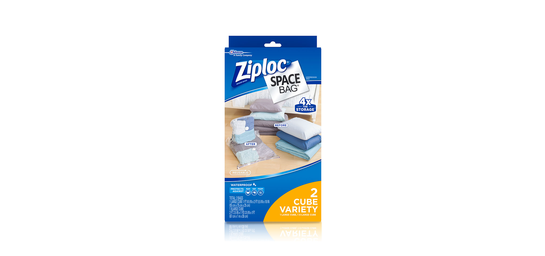 Genial Ziploc® | Space Bag® Variety Pack 2 Cube | Ziploc® Brand | SC Johnson