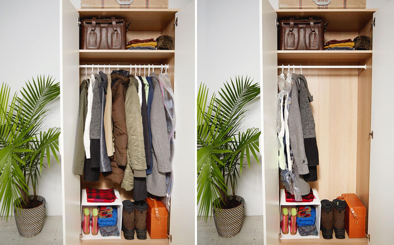 Ziploc space bag hang bag ziploc brand sc johnson - How to hang bags in closet ...