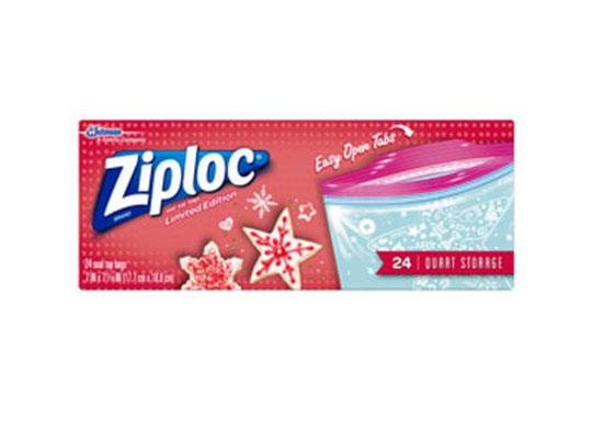 Ziploc 174 Holiday Freezer Bags Gallon Large Ziploc